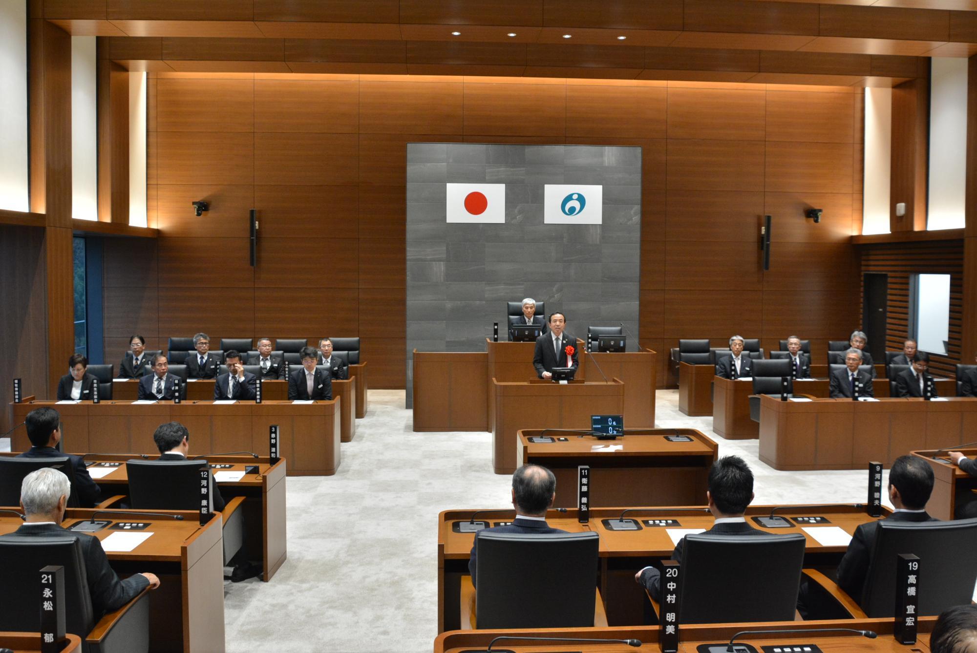 宇佐市議会議場開場式(令和2年1月6日)